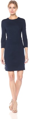 Trina Turk Women's Flush Ponte Dress with Gold Button Detail
