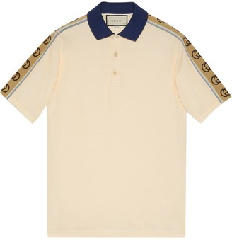 Gucci Monogram Pattern Polo Shirt