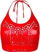 Ermanno Scervino lace halterneck bikini top - women - Polyamide/Spandex/Elastane - I