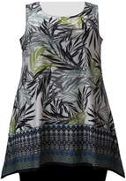 A Personal Touch Women's Plus Size Floral Border Print Tank Top
