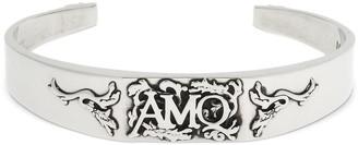 Alexander McQueen Snake & Logo Cuff Bracelet