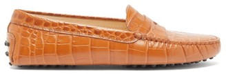 Tod's Gommini Crocodile-embossed Leather Loafers - Womens - Tan