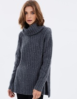 Rusty Heckle High Neck Knit