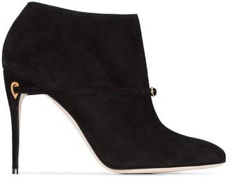 Jennifer Chamandi black maurizio 105 suede leather boots