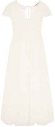 Paco Rabanne Scalloped Chantilly Lace Maxi Dress