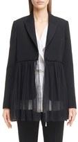 Givenchy Women's Chiffon Hem Wool Blazer
