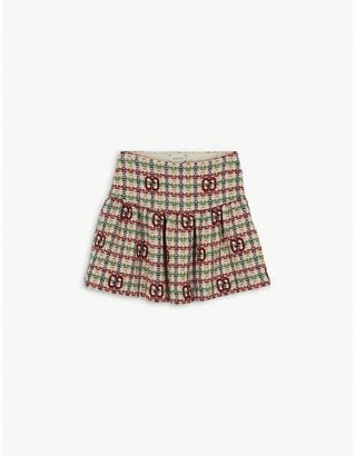 Gucci GG wool-blend tweed skirt 6-12 years