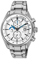 Citizen Men's Eco-Drive HTM Stainless Chrono Bracelet Watch