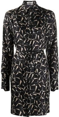 Bally Printed Silk Midi Dress