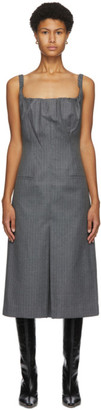 Commission Grey Herringbone Dress