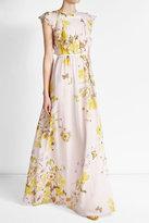 Giambattista Valli Prined Silk Maxi Dress