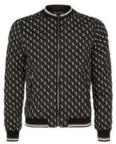 Dolce & Gabbana Pistol Print Quilted Bomber Jacket