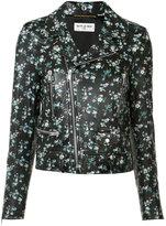 Saint Laurent cropped blazer jacket - women - Leather/Polyester - 38