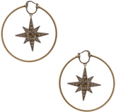Roberto Cavalli Star Hoop Earrings