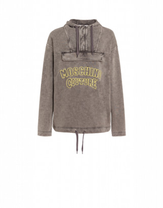 Moschino Couture Hooded Sweatshirt Man Grey Size 44 It - (34 Us)