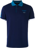 Hackett chest print polo shirt - men - Cotton/Spandex/Elastane - S
