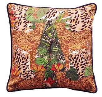 Jessica Russell Flint Hot Cheetah Velvet Cushion