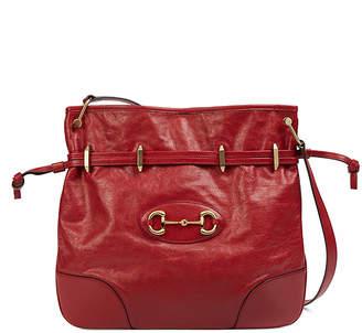 Gucci 1955 Morsetto Small Leather Horsebit Drawstring Bucket Bag