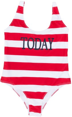 Alberta Ferretti Kids TEEN Today print swimsuit