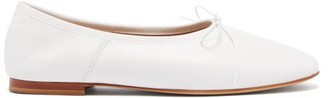 Mansur Gavriel Dream Leather Ballet Flats - Womens - White