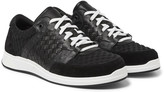 Bottega Veneta - Intrecciato Leather, Suede And Embossed Jersey Sneakers