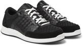 Bottega Veneta - Intrecciato Leather, Suede And Embossed Jersey Sneakers