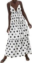 Mara Hoffman Bari Sleeveless Tiered Ruffle Organic Cotton Dress
