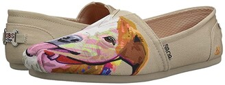 BOBS from SKECHERS Bobs Plush - Pitty Love (Natural) Women's Flat Shoes