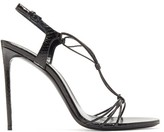 Saint Laurent Robin Ayers Slingback Sandals - Womens - Black