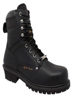 """AdTec Men's 9"""" Steel Toe Super Logger Boot Men's Shoes"""