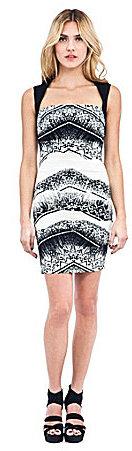 Nicole Miller Cheveron Batik Dress