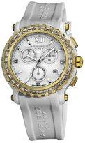 Akribos XXIV Women's AK545WT Swiss Quartz Chronograph Ceramic Rubber Strap Watch