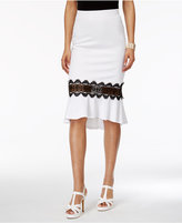 Thalia Sodi Crochet-Illusion Trumpet Skirt, Created for Macy's
