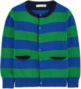 Stella McCartney Striped organic cotton and cashmere cardigan