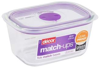 Decor Match-Ups Purple Oblong Glass Realseal Food Storage Container