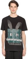 McQ by Alexander McQueen Electro Bunny Printed Jersey T-Shirt