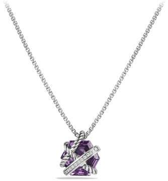 David Yurman Cable Wrap Necklace With Amethyst And Diamonds, 10Mm