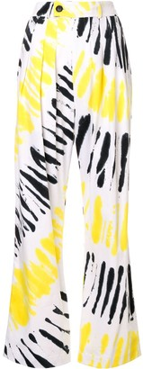 Strateas Carlucci Tie-Dye Palazzo Trousers