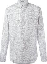 Christian Dior tangled lines print shirt - men - Cotton - 39