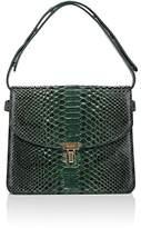 Balenciaga Women's Python Turn-Lock Shoulder Bag