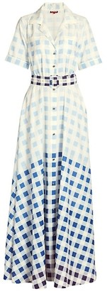 STAUD Millie Ombre Check Dress