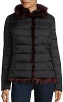 Betsey Johnson Faux Fur Puffer Jacket