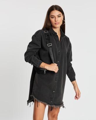 Missguided Oversized Denim Shirt Dress