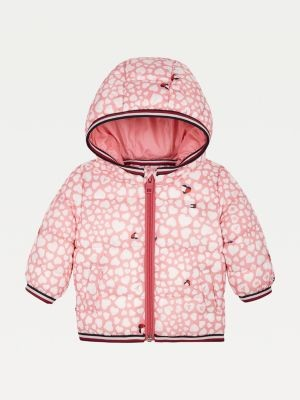Tommy Hilfiger Printed Hooded Puffer Jacket