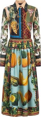 Dolce & Gabbana Autumn-Print Twill Longuette Dress