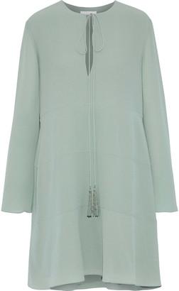 Chloé Tasseled Silk Crepe De Chine Dress