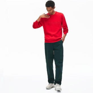 Lacoste Men's Crewneck Signature-Logo Knit Sweater