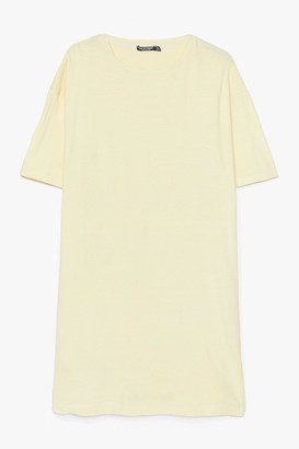 Nasty Gal Womens Easy Does It Plus Tee Dress - Lemon