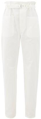 Isabel Marant Kelinny Paperbag-waist Cotton Trousers - White