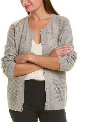 Piazza Sempione Open-Knit Wool & Cashmere-Blend Cardigan
